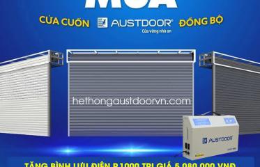 Tặng bình lưu điện P1000 khi mua cửa cuốn austdoor đồng bộ