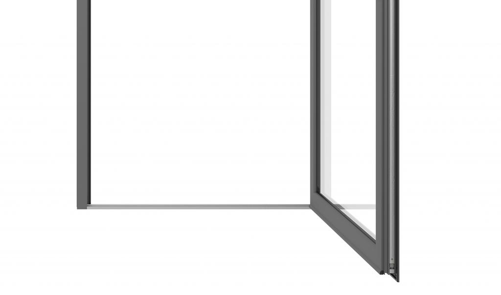 cửa sổ mở quay nhôm Topal Slima
