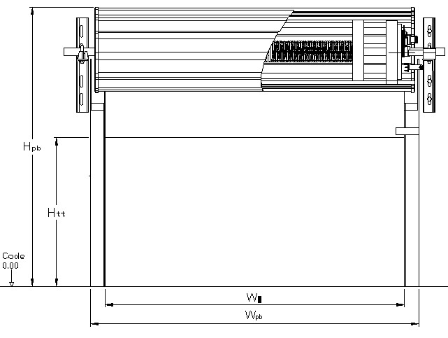 thông số kỹ thuật ô chờ cửa cuốn tấm liền Austdoor